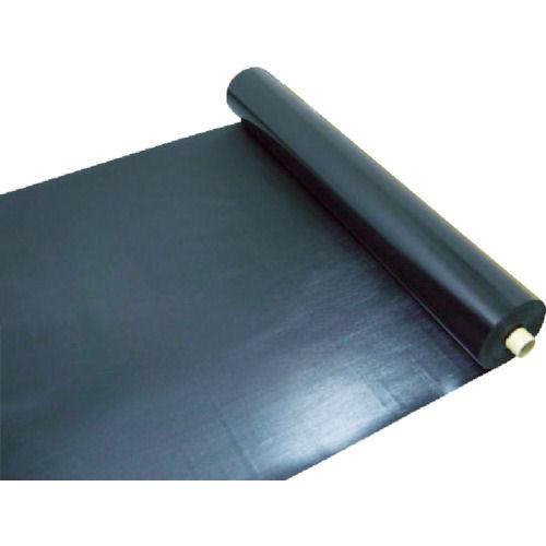 ワニ印 塩ビ養生シート 黒 厚み0.5MM 1M×30M_