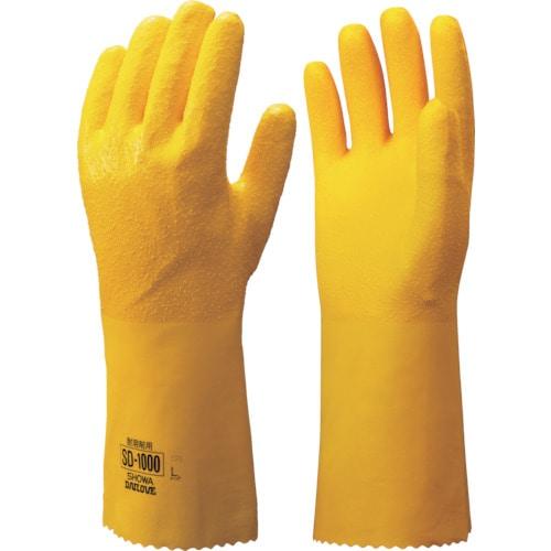 ショーワ SD-1000耐溶剤用手袋 Lサイズ イエロー_