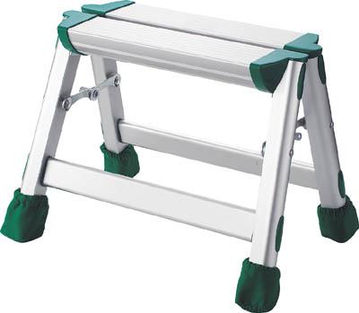 TRUSCO アルミ製踏台 軽作業用・脚カバー付 1段_