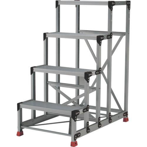 TRUSCO 作業用踏台 アルミ製・高強度タイプ 4段_