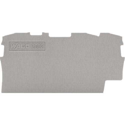 WAGO 端子台エンドプレート2001・2002シリーズ共用3線式 グレー 10_