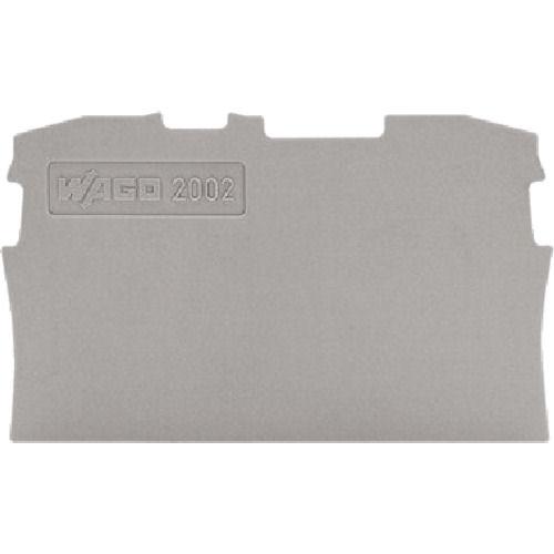 WAGO 端子台エンドプレート2001・2002共用2線式グレー色 (10個入)_