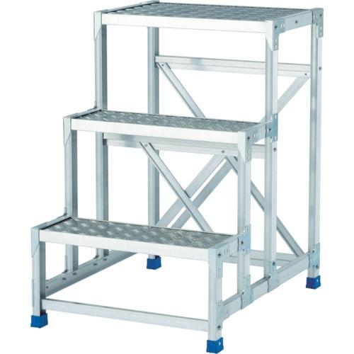 アルインコ 作業台(天板縞板タイプ)3段_