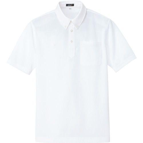 アイトス ボタンダウン半袖ポロシャツ ホワイト 各種