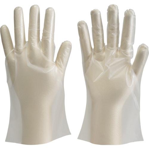 TRUSCO ポリエチレン製使い捨て手袋 Lサイズ (100枚入)_
