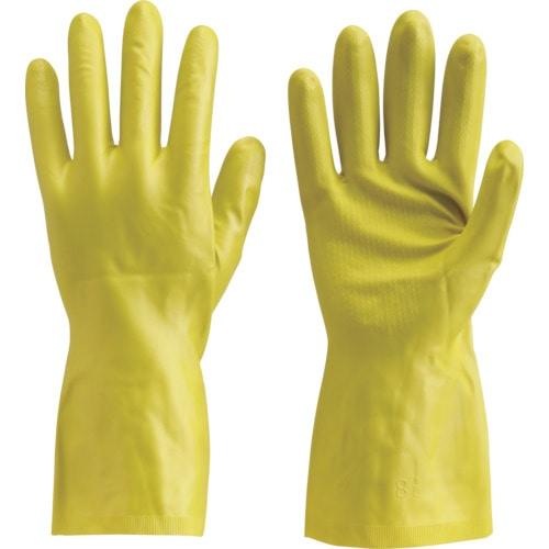 TRUSCO 天然ゴム手袋 薄手タイプ グリ-ン Lサイズ_