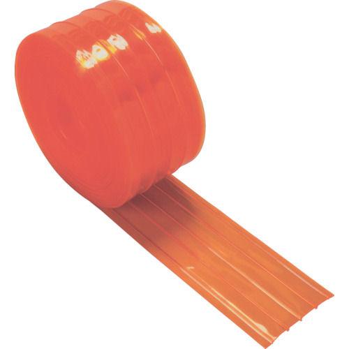 TRUSCO ストリップ型リブ付き間仕切りシート防虫オレンジ2X200X30M_