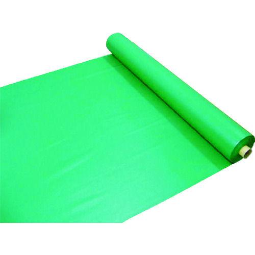 ワニ印 塩ビ養生シート 緑 厚み0.2MM 1M×30M_