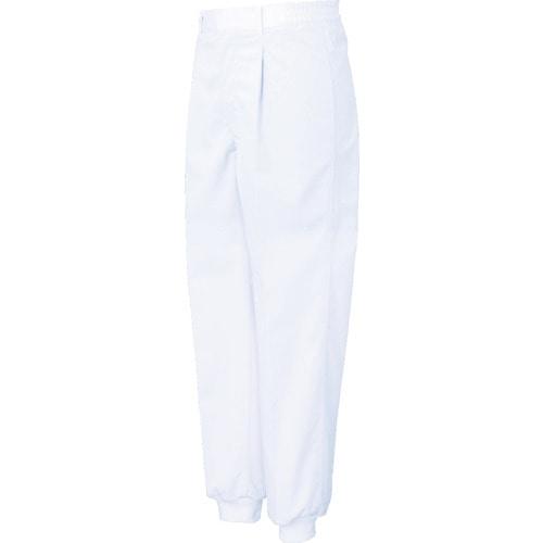 サンエス 女性用混入だいきらい横ゴム・裾口ジャージパンツ ホワイト 各サイズ