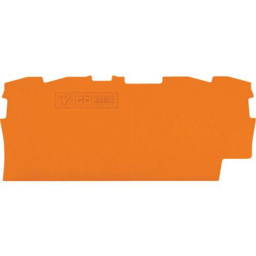 WAGO 端子台エンドプレート2001・2002シリーズ共用4線式 橙  10個_