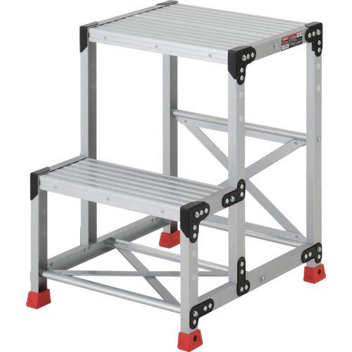 TRUSCO 作業用踏台 アルミ製・高強度タイプ 2段_