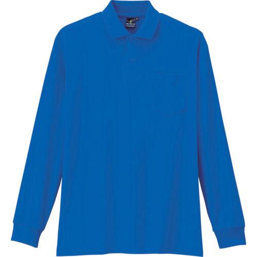 コーコス 制電・防透・消臭長袖ポロシャツ 6ブルー 各サイズ
