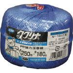 ユタカ 荷造り紐 強力玉巻紐 約250M・約180g ブルー_