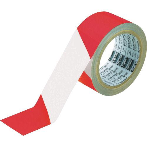 TRUSCO トララインテープ 赤白 50mm×25m_