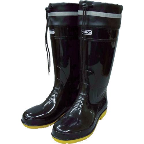 TRUSCO 耐油安全ブーツ フード付 黒 各種
