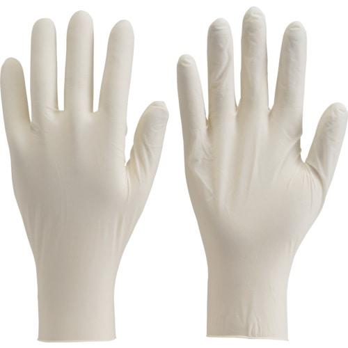 TRUSCO 使い捨て天然ゴム極薄手袋 Mサイズ (100枚入)_