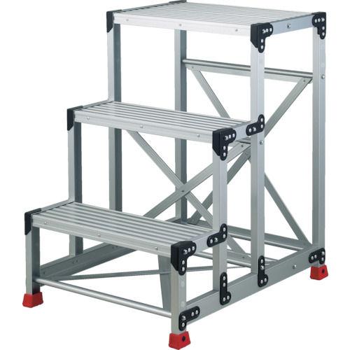 TRUSCO 作業用踏台 アルミ製・高強度タイプ 3段_