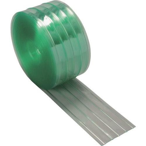 TRUSCO ストリップ型リブ付き間仕切りシート静電透明2X200X30M_