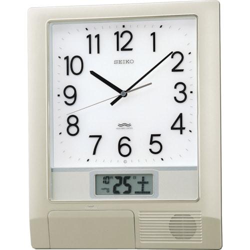 SEIKO 電波プログラムクロック 429×345×57 銀色メタリック_