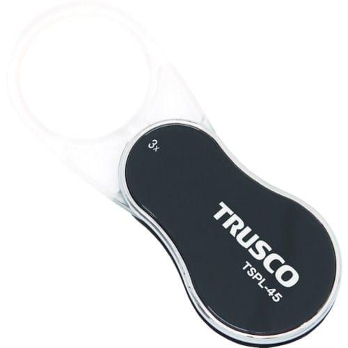 TRUSCO LED付スライドポケットルーペ レンズサイズ45mm 3倍_