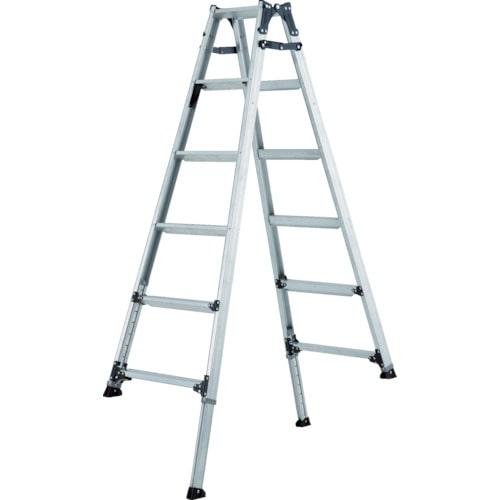 アルインコ 伸縮脚付きはしご兼用脚立(踏ざん幅60mm・各脚441mm伸縮)_