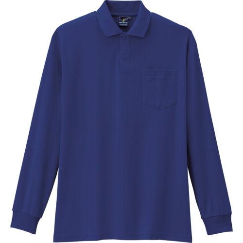 コーコス 制電・防透・消臭長袖ポロシャツ 1ネイビー 各サイズ