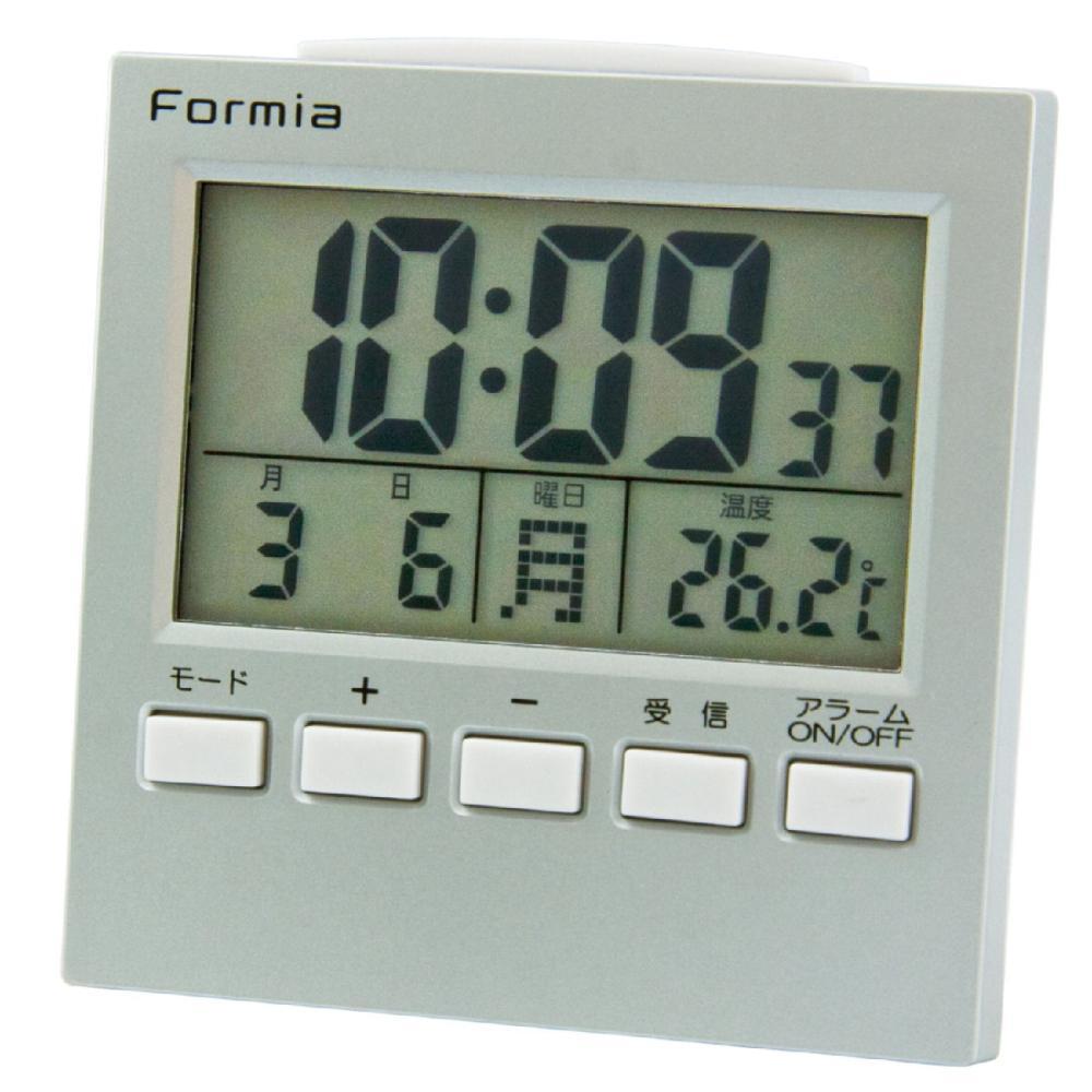 Formia コンパクトで持ち歩ける電波デジタル目覚し HT-004