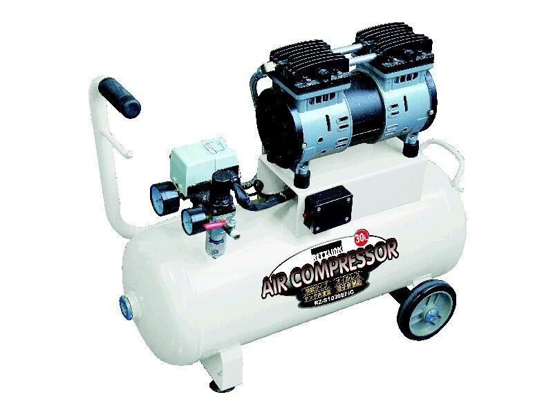 コメリ エアーコンプレッサー 30L 静音 ホワイト