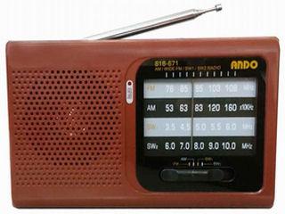 アンドーインターナショナル 短波も聞けるホームラジオ S16-671