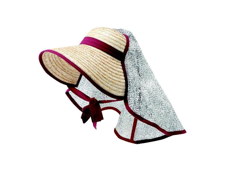 遮光タレ付麦わら農帽 CX05-048