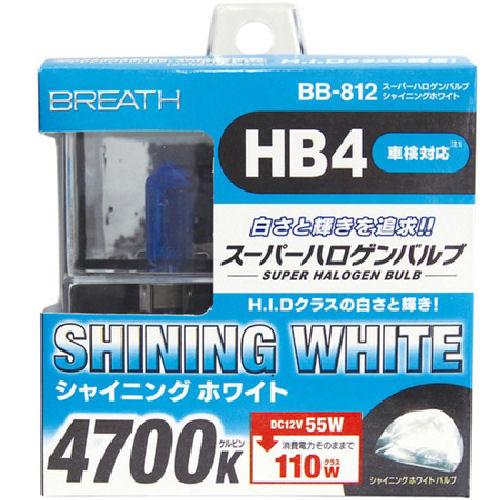 ベイテックス スーパーハロゲンバルブHB4 シャイニングホワイト BB812