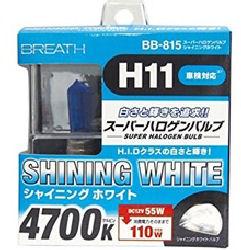 ベイテックス スーパーハロゲンバルブH11 シャイニングホワイト BB815