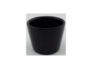 ミニ観葉鉢カバー ブラック 陶器 2.5号用 φ7.5cm