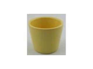 ミニ観葉鉢カバー イエロー 陶器 3号用 φ9cm