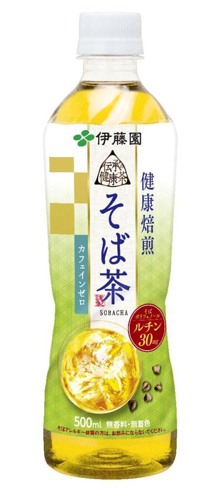 伊藤園 伝承の健康茶 健康焙煎そば茶 500ml