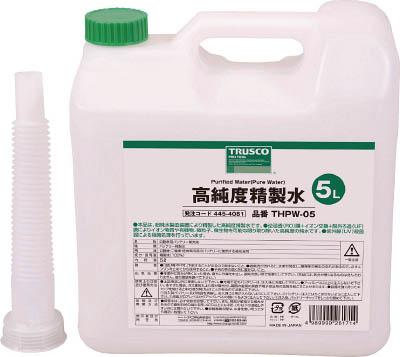 TRUSCO 高純度精製水 5L_