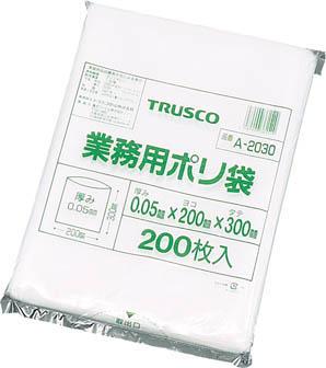 TRUSCO 小型ポリ袋 縦200X横130Xt0_