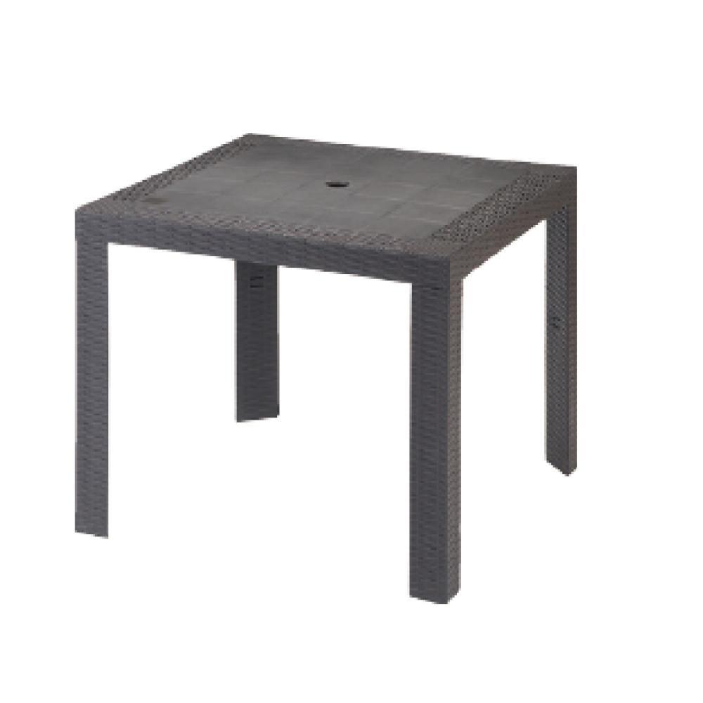 プラスチックウィッカー テーブル 80×80cm