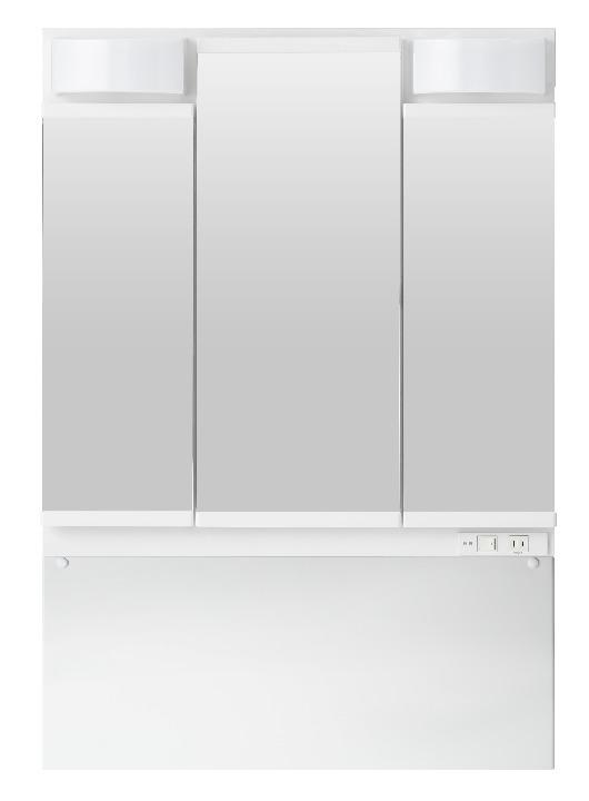 TOTO 洗面化粧台(KC用) 間口750 三面鏡 LED LMCL075G3GDC1G
