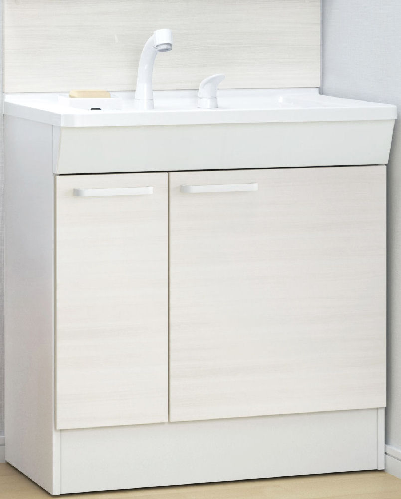 TOTO 洗面化粧台(KC) 間口750 片引出 ホワイトペア LDCL075BJGEN1C