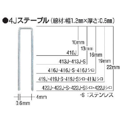 MAX タッカ用ステンレスステープル 肩幅4mm _