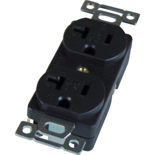 アメリカン電機 平刃形 複式埋込コンセント 接地2_