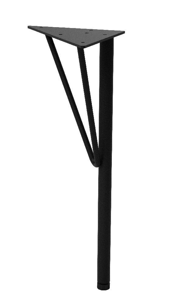 スチールローテーブル脚 黒 WTK-2