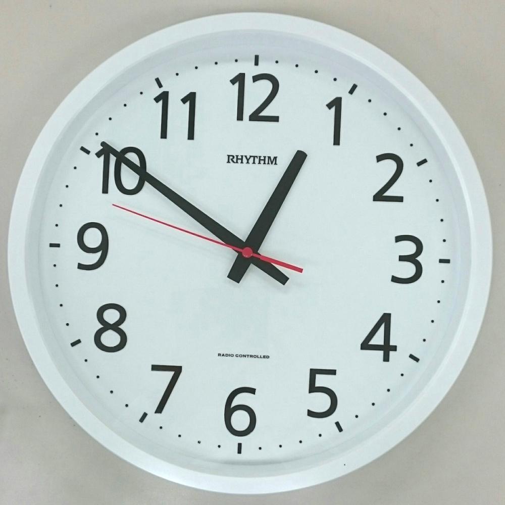 コメリセレクト 連続秒針電波時計 ホワイト 8ZYA05AZ03