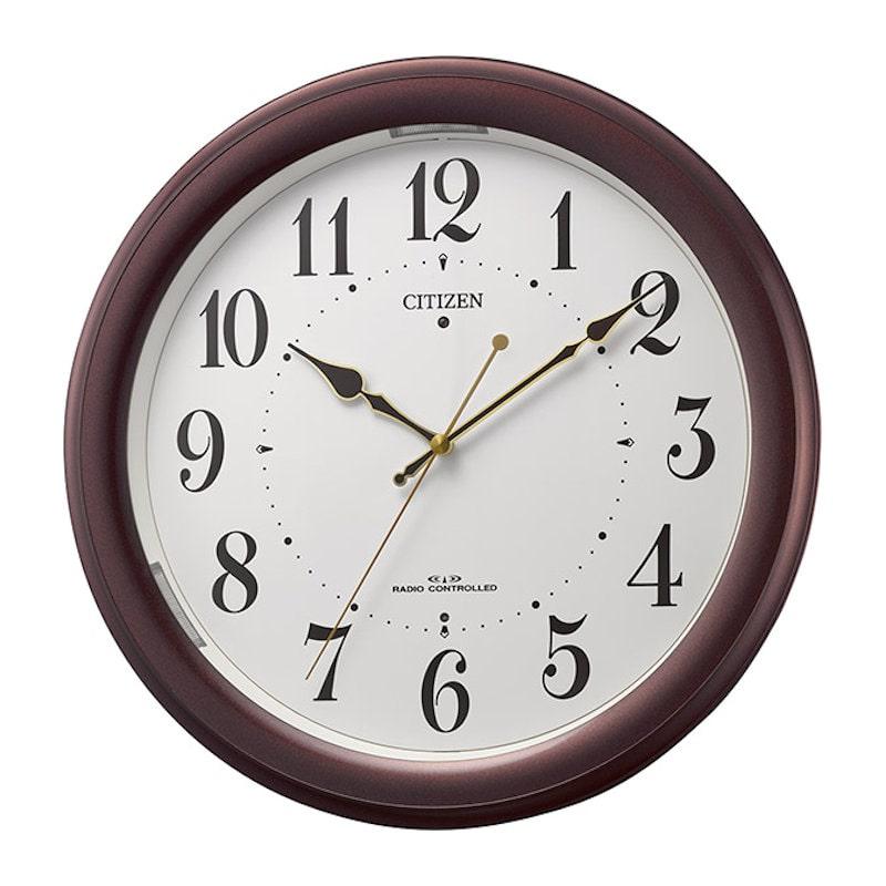 リズム時計 シチズン 電波掛け時計 4MYA36-006