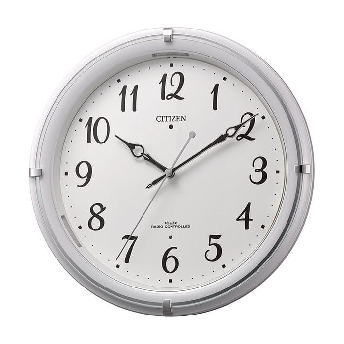 リズム時計 シチズン 電波掛け時計 4MYA37-003