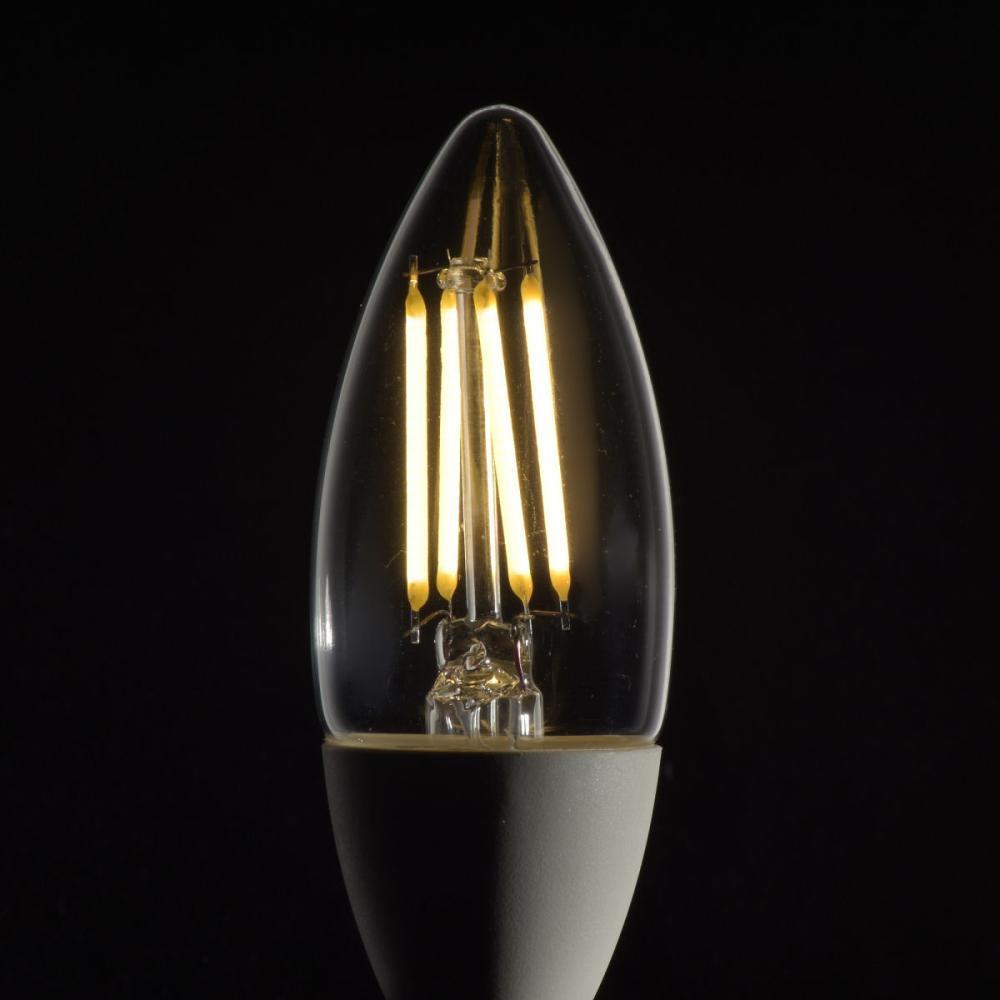 LEDシャンデリア球 40W形 E17 クリア調光タイプ