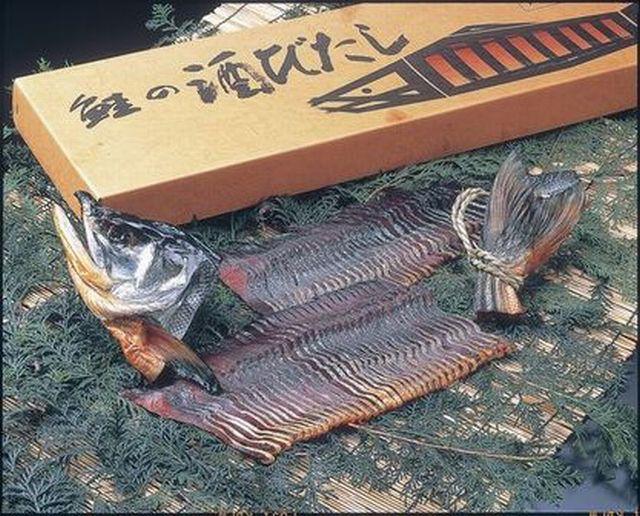 村上名産鮭の酒びたし(半身スライス約850g)