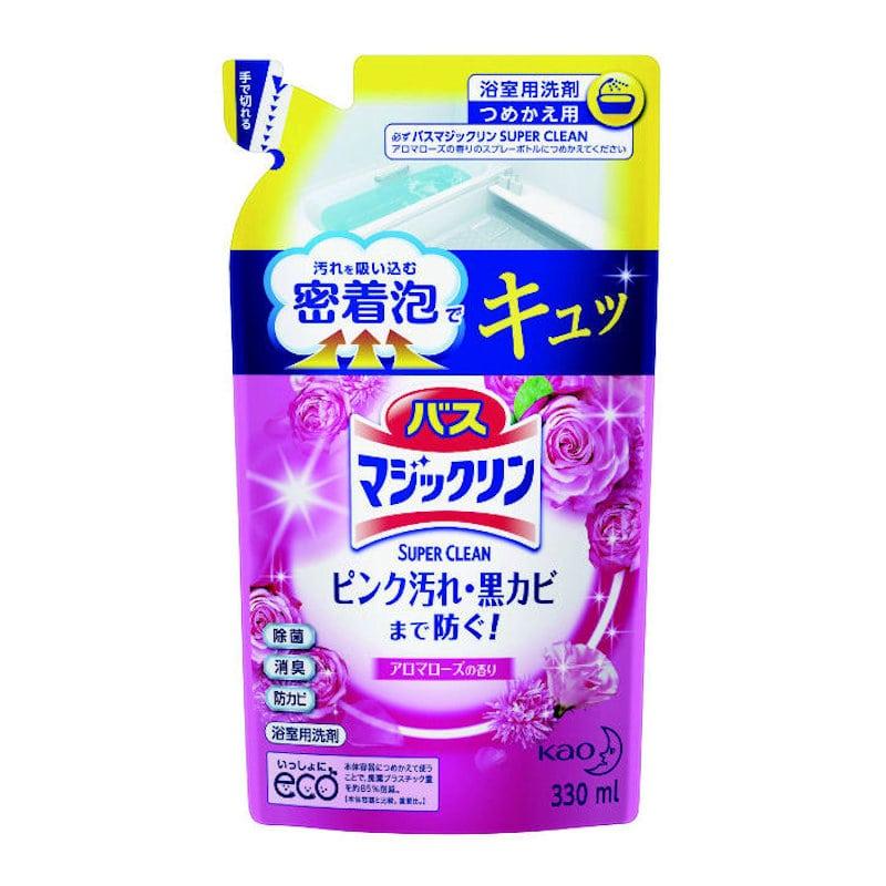 花王 バスマジックリン 泡立ちスプレー SUPERCLEAN アロマローズの香り 詰替 330ml