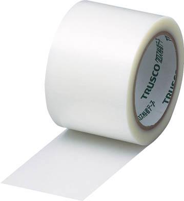 TRUSCO クロス粘着テープ 幅75mmX長さ25m クリア 透明_